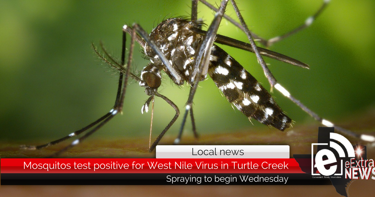 Mosquitos test positive for West Nile Virus in Turtle Creek area of Hunt County