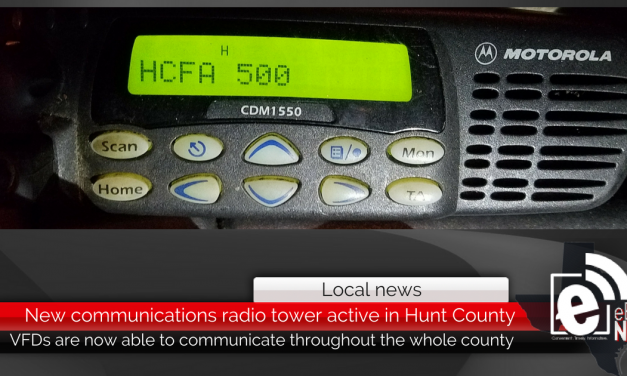 New radio communications tower active in Hunt County