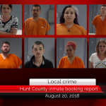Hunt County inmate booking report || August 20, 2018
