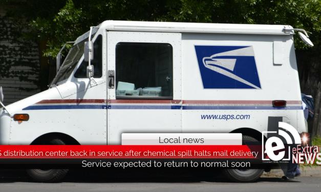 USPS distribution center back in service after chemical spill halts mail delivery