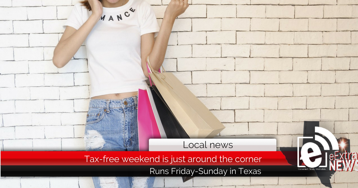 Tax-free weekend is just around the corner