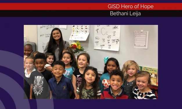 Bethani Leija named GISD Hero of Hope for September