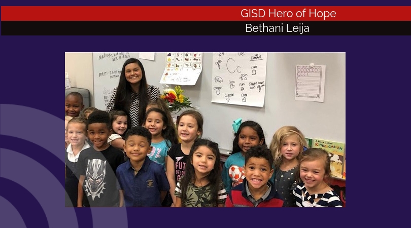 Bethani Leija named GISD Hero of Hope for September