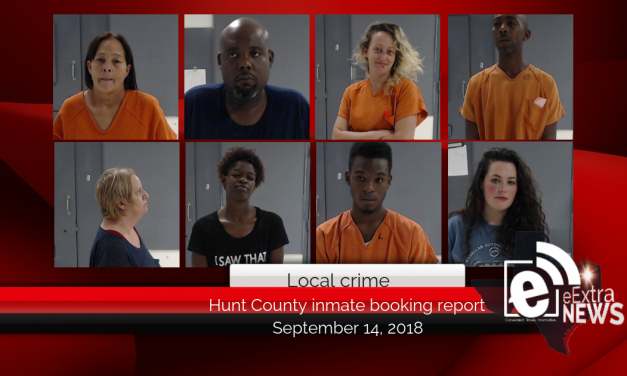 Hunt County Sheriff inmate booking report || September 14, 2018
