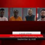 Hunt County inmate booking report || September 19, 2018