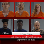 Hunt County inmate booking report || September 20, 2018