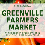 Greenville Farmers Market open Saturday in downtown Greenville