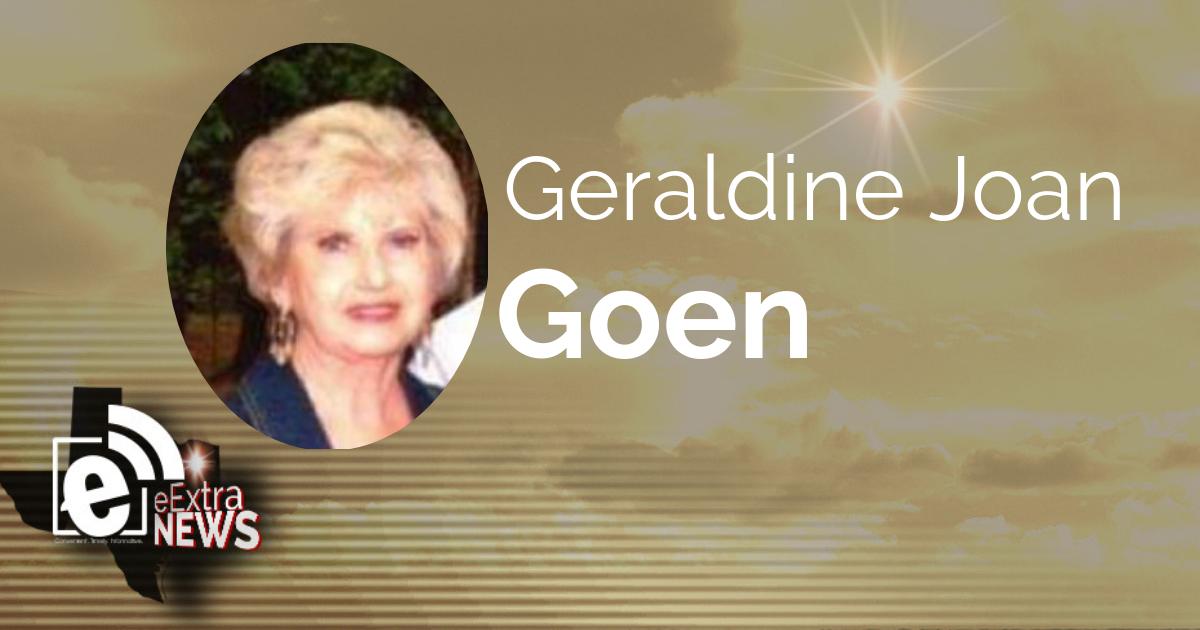 Geraldine Joan Goen of Greenville, Texas