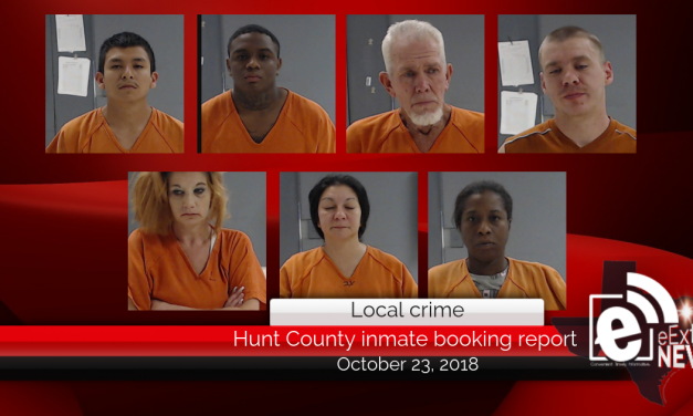 Hunt County inmate booking report || October 23, 2018