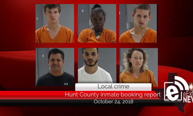 Hunt County inmate booking report || October 24, 2018