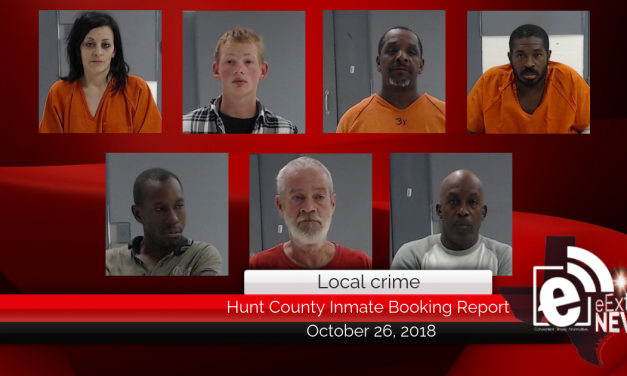 Hunt County inmate booking report || October 26, 2018