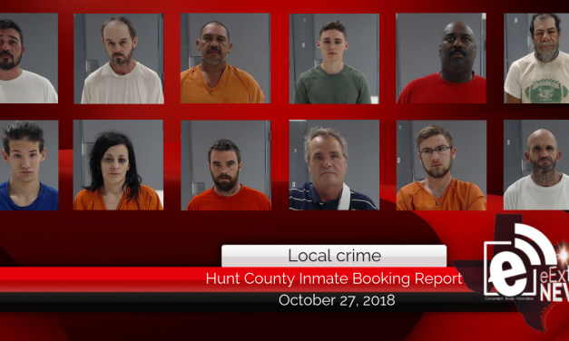 Hunt County inmate booking report || October 27, 2018