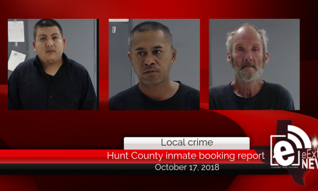 Hunt County inmate booking report || October 17, 2018