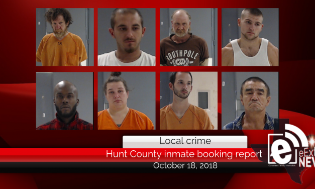 Hunt County inmate booking report || October 18, 2018