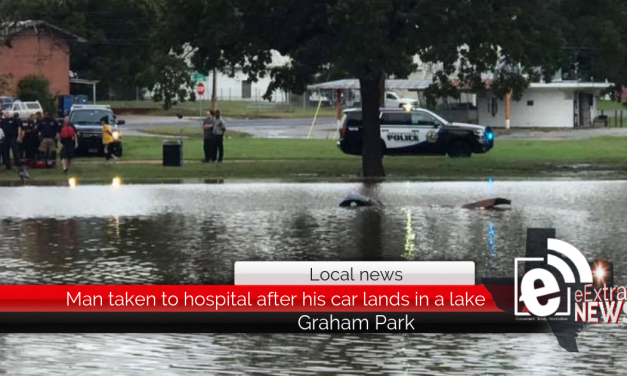 Man taken to hospital after his car lands in a lake at Graham Park