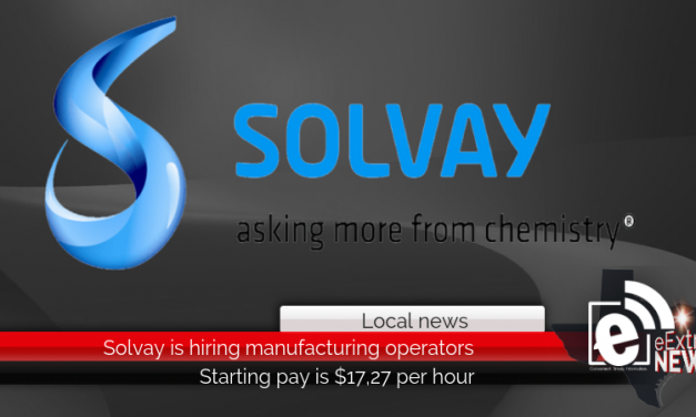 Solvay is hiring manufacturing operators || Starting pay is $17.27 per hour