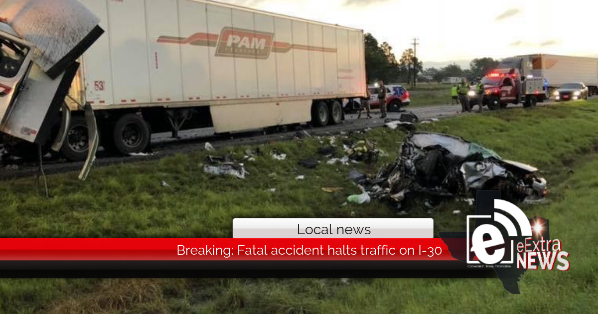 Breaking: Fatal accident halts traffic on I-30 (Updated 1:01 p.m.)
