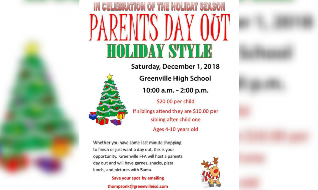 Greenville FFA will host a Parents Day Out