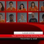 Hunt County inmate booking report || November 9, 2018