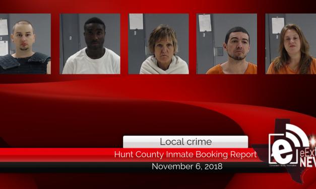 Hunt County inmate booking report || November 6, 2018