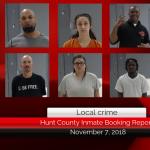 Hunt county inmate report || November 7, 2018