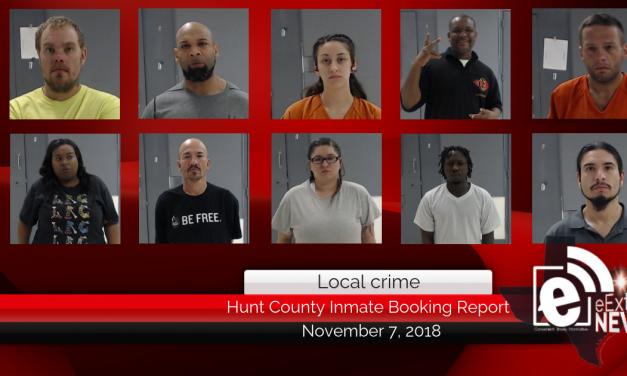 Hunt county inmate report    November 7, 2018