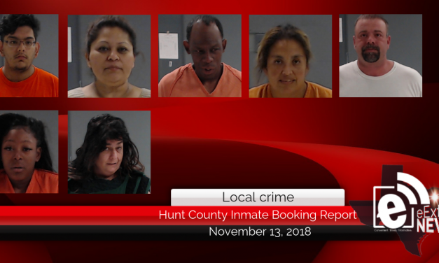 Hunt County inmate booking report || November 13, 2018