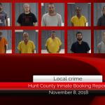 Hunt County inmate booking report || November 8, 2018