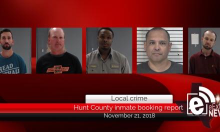Hunt County inmate booking report || November 21, 2018