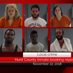 Hunt County inmate booking report || November 22, 2018