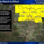 Tornado Watch is in effect