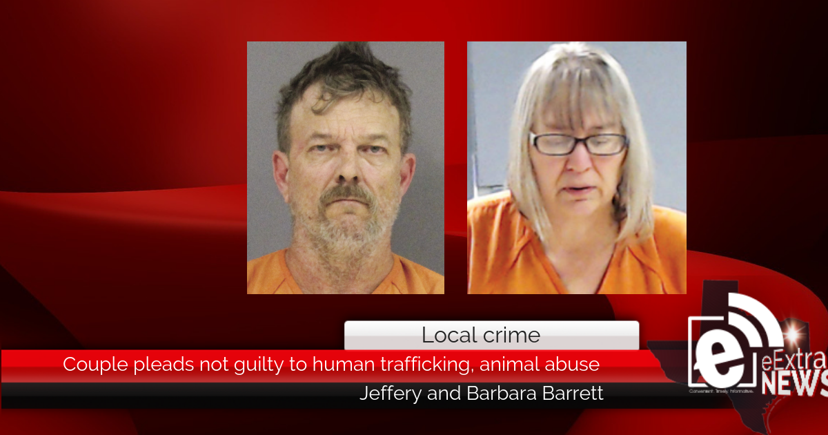 Local couple pleads not guilty to human trafficking, animal abuse