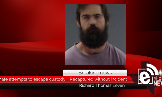 Inmate attempts to escape custody    Recaptured without incident