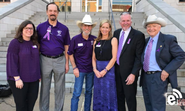 Go Purple rally set for noon at the Hunt County Courthouse
