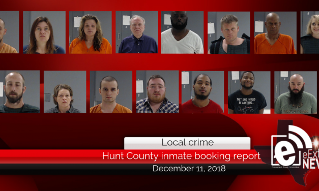 Hunt County inmate booking report || December 10, 2018