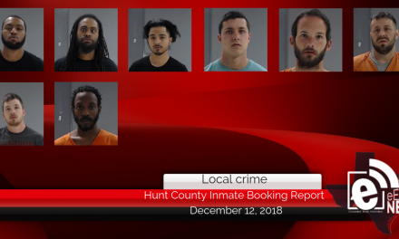 Hunt County inmate booking report || December 13, 2018