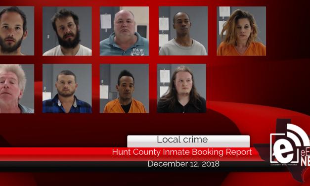 Hunt County inmate booking report || December 12, 2018