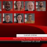 Hunt County inmate booking report || December 28, 2018