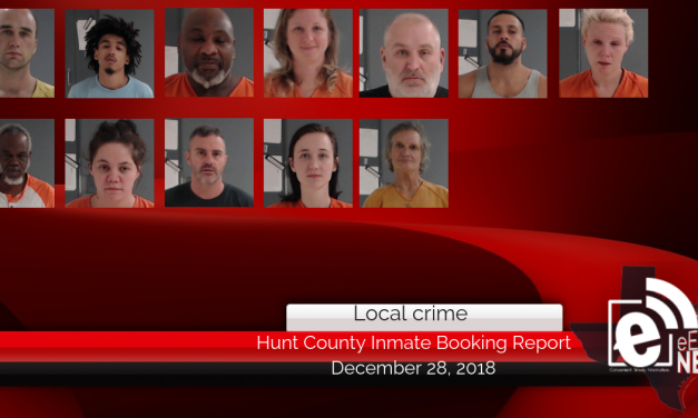 Hunt County inmate booking report || December 28, 2018