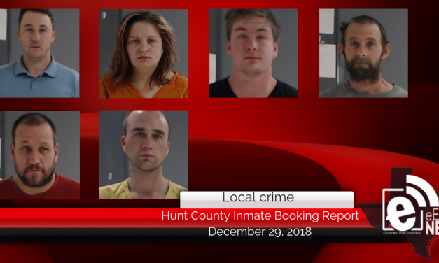 Hunt County inmate booking report || December 29, 2018