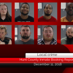 Hunt County inmate booking report || December 11, 2018