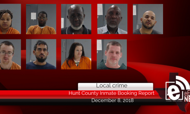 Hunt County inmate booking report || December 8, 2018