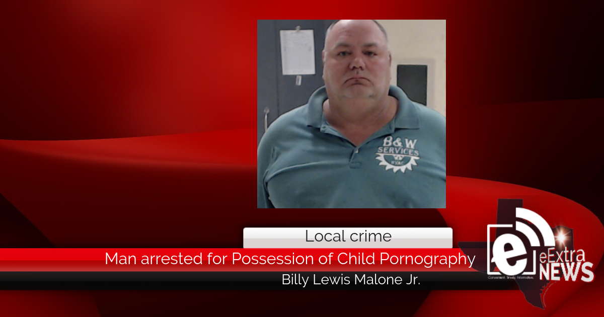 Man arrested for Possession of Child Pornography