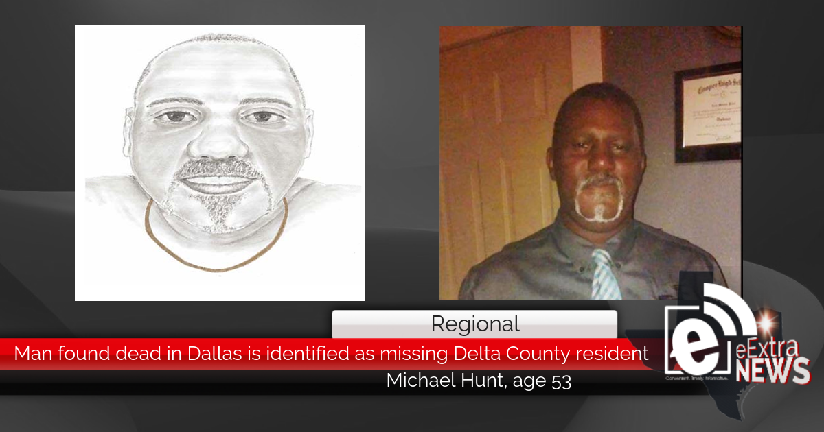 Missing Delta County man found dead in Dallas, Texas