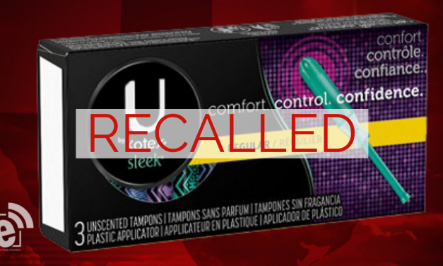 Tampons recalled due to risk of unraveling, leaving pieces inside the body