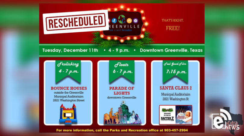 Parade of Lights rescheduled due to weather concerns || Tuesday, Dec. 11, 2018