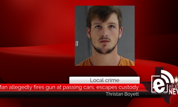 Man allegedly fires gun at passing cars, escapes custody