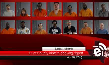 Hunt County inmate booking report || January 19, 2019