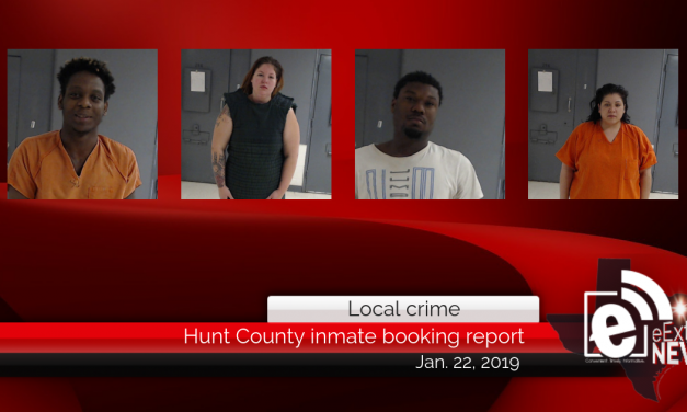 Hunt County inmate booking report || January 22, 2019