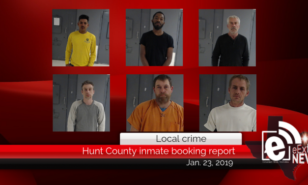 Hunt County inmate booking report || January 23, 2019